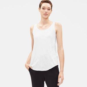 Eileen Fisher White Muscle Tank Top Shell XXS SOFT